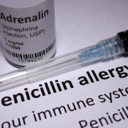 Penicillin Allergy written description with a anaphylactic shock injection